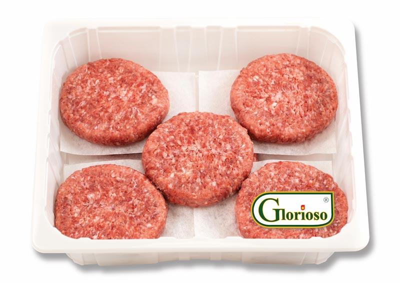 Hamburger di bovino suino Horeca